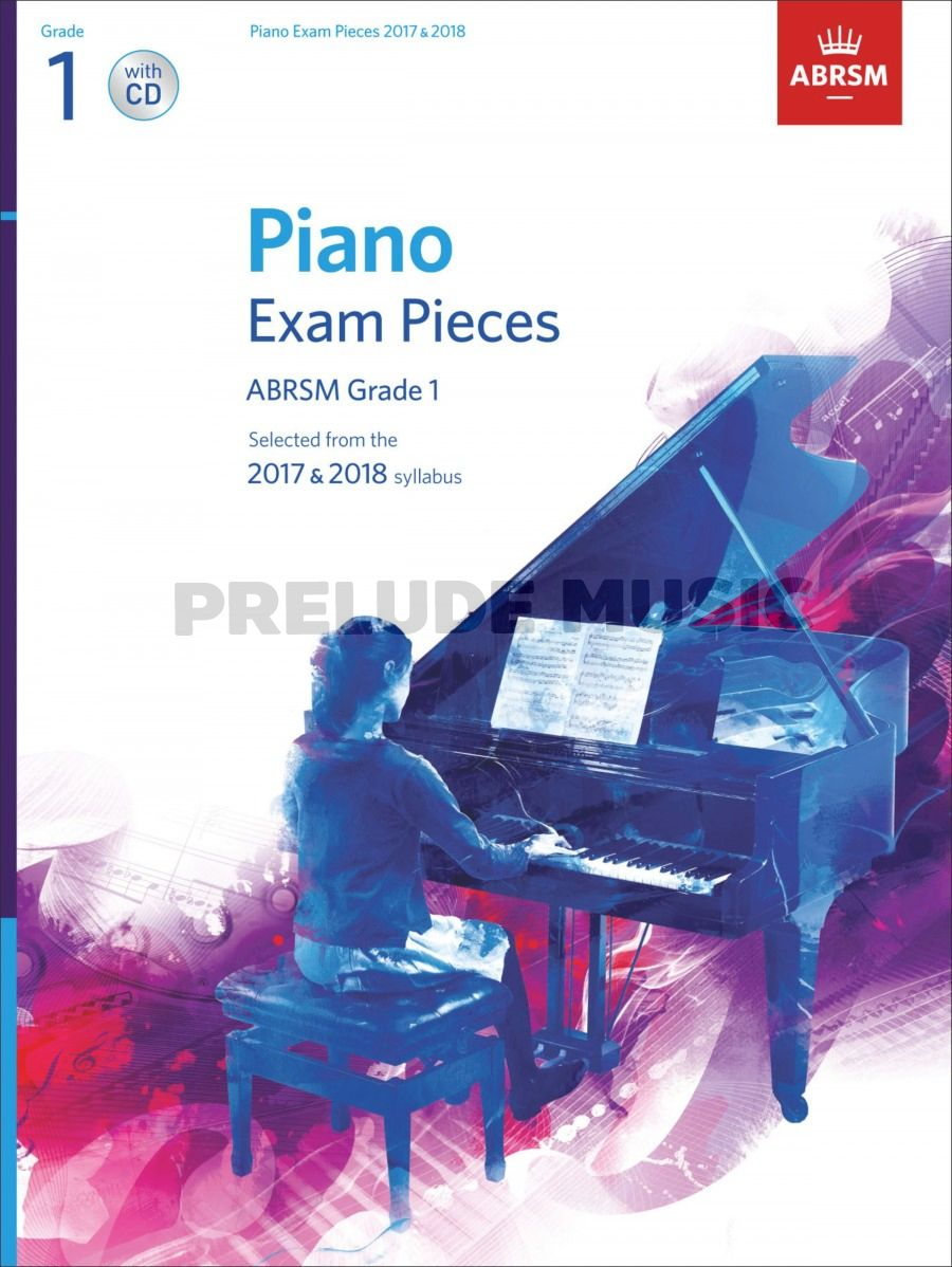 ABRSM Piano Exam Pieces 2017 & 2018 Grade 1 with CD