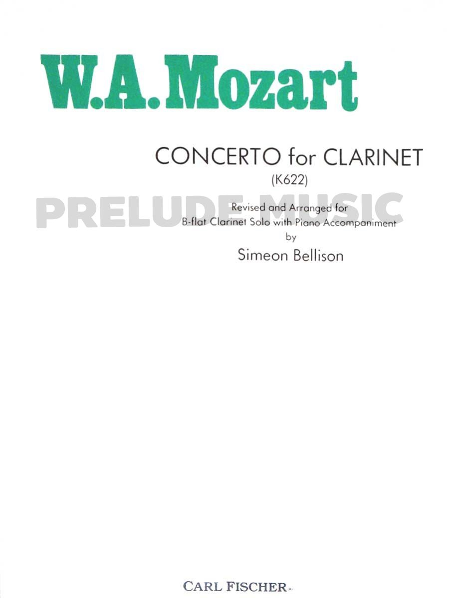 W.A.Mozart Concerto for Clarinet In Bb, K 622