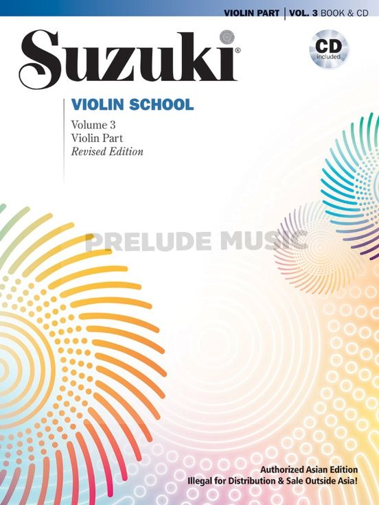 Suzuki Violin School Violin Volume 3