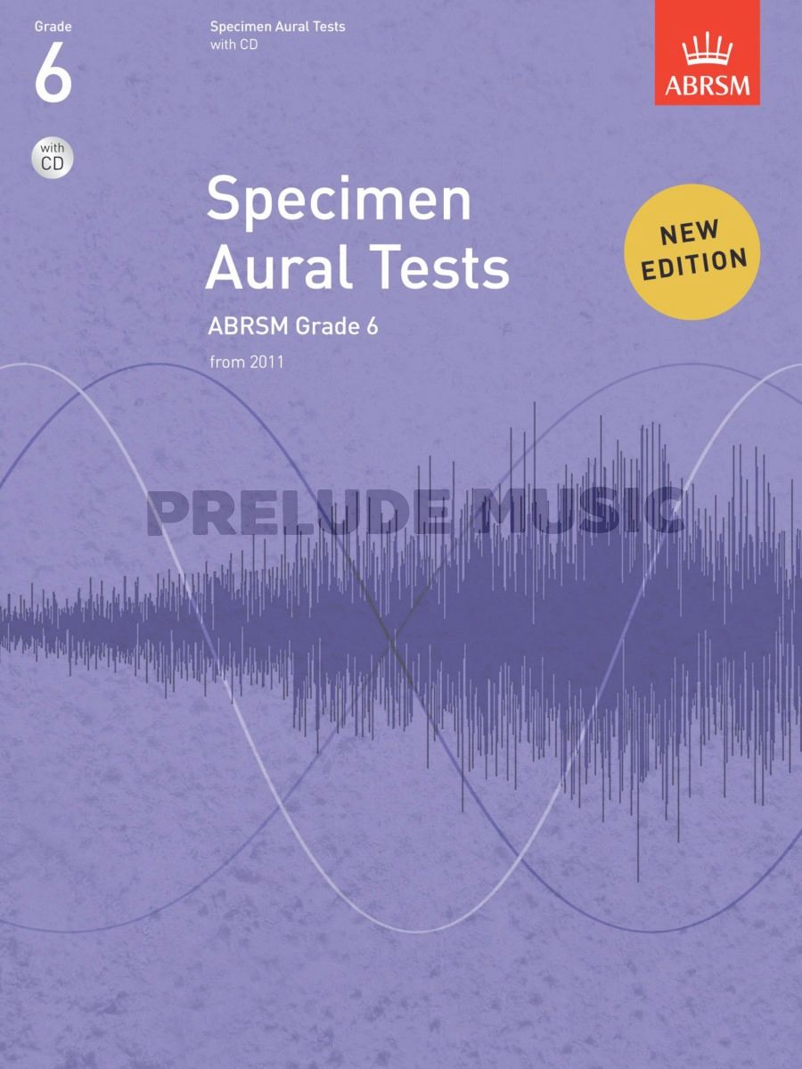 ABRSM Specimen Aural Tests - Grade 6 (2011+) Book/CD