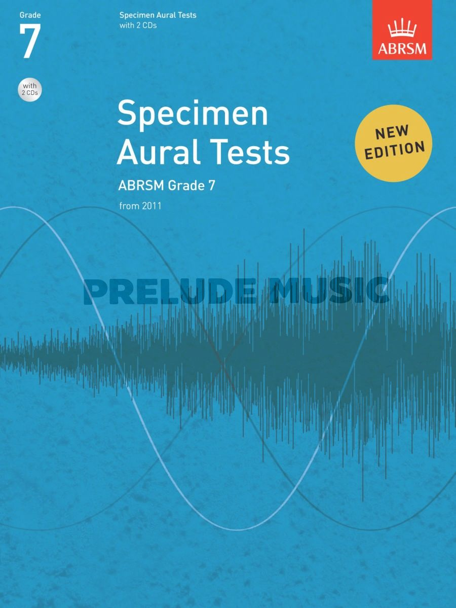 ABRSM Specimen Aural Tests - Grade 7 (2011+) Book/2 CDs