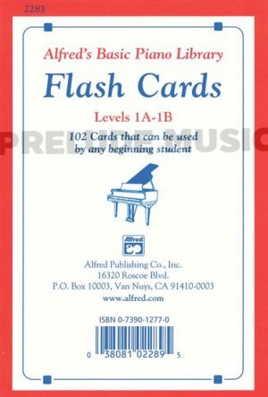 Alfred's Basic Piano Course: Flash Cards, Levels 1A & 1B