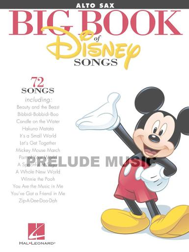 BOOK OF DISNEY SONGS Alto Saxophone