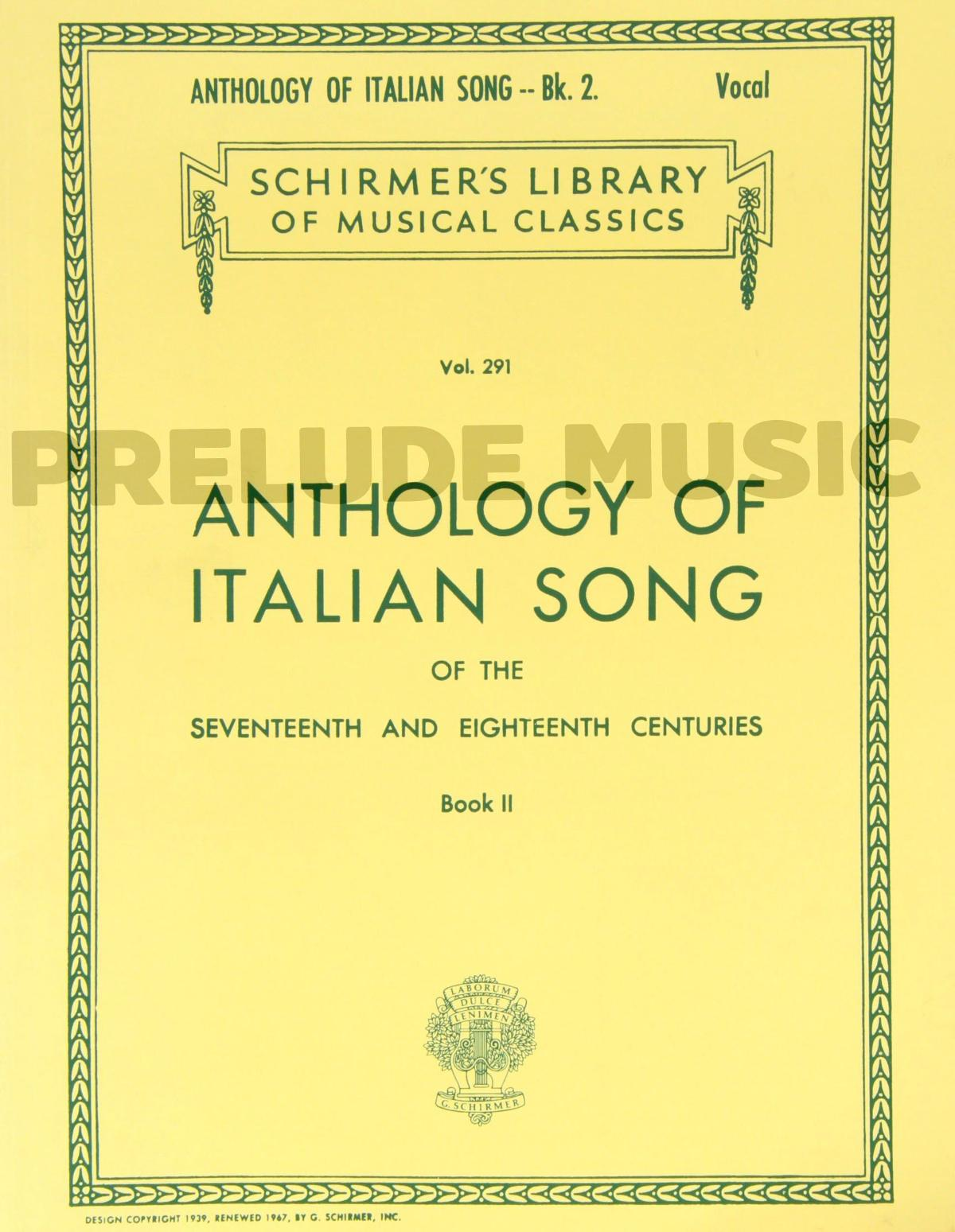Anthology of Italian Song of the 17th and 18th Centuries