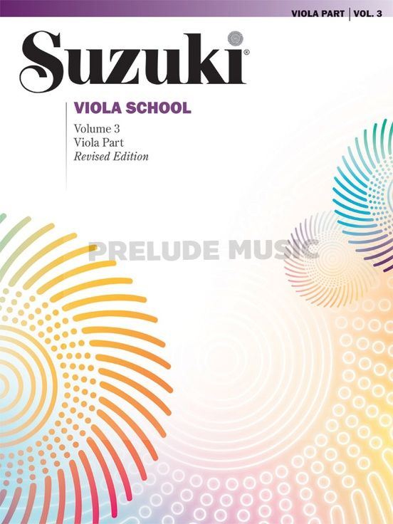 Suzuki Viola School Viola Part Volume 3