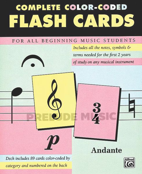 COMPLETE COLOR-CODES FLASH CARDS