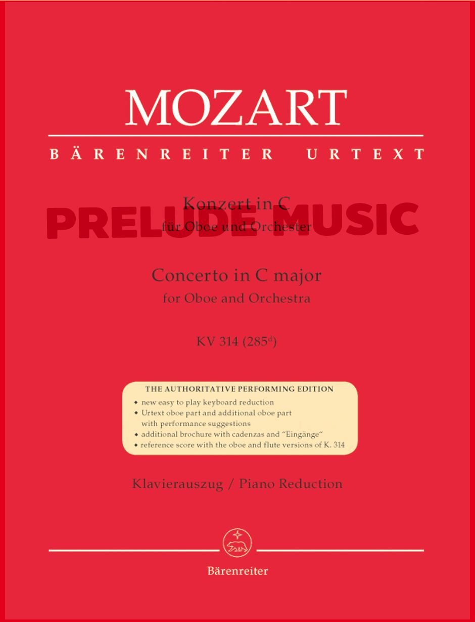 Mozart,Concerto for Oboe and Orchestra C major K. 314 (285d)