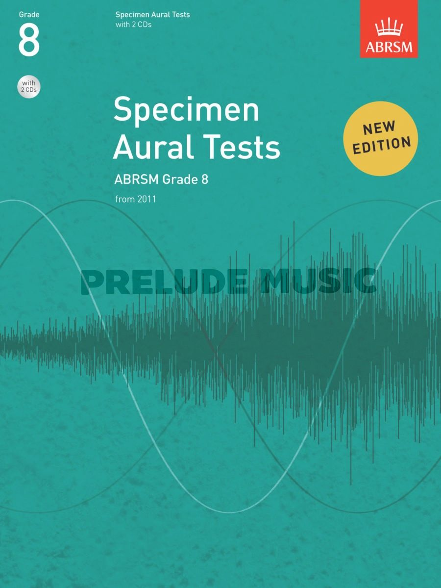 ABRSM Specimen Aural Tests - Grade 8 (2011+) Book/2 CDs