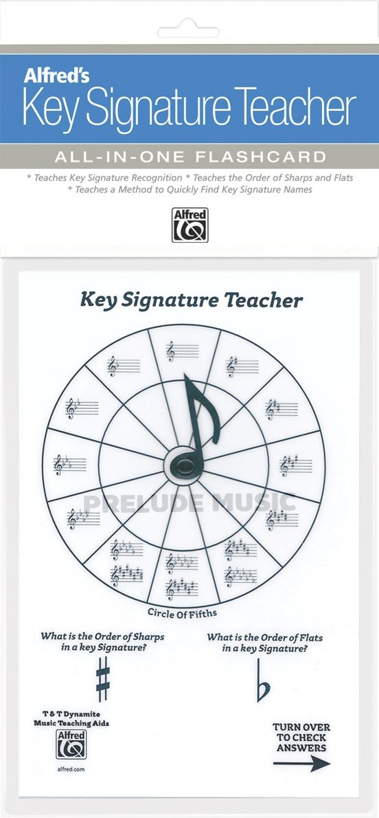 Alfred's Key Signature Teacher White