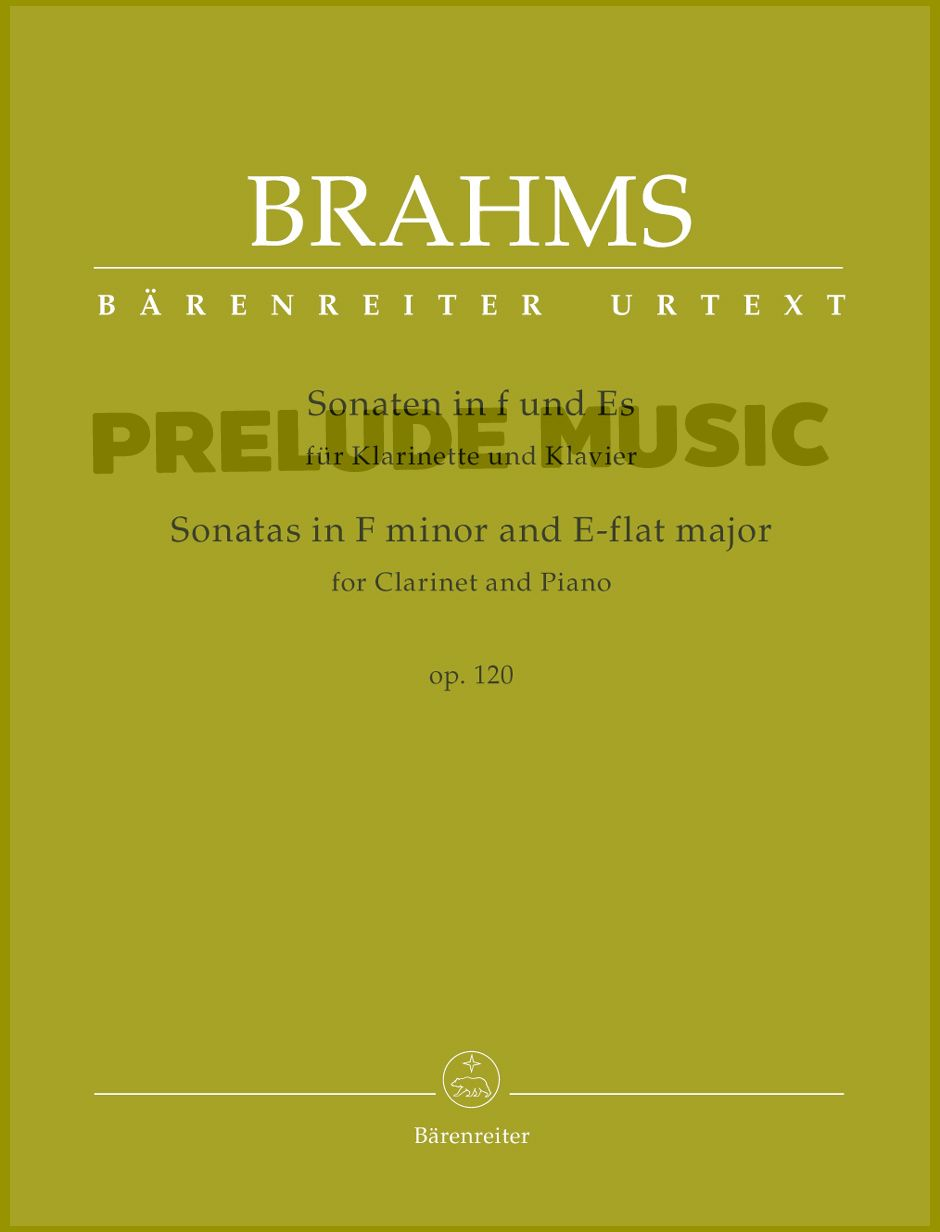 Brahms, Sonatas in F minor and E-flat major for Clarinet and Piano op. 120