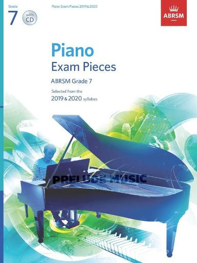 Piano Exam Pieces 2019 & 2020, Grade 7, with CD