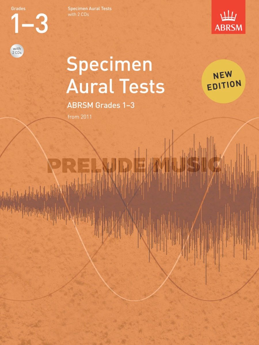 ABRSM Specimen Aural Tests - Grades 1-3 (2011+) Book/2 CDs