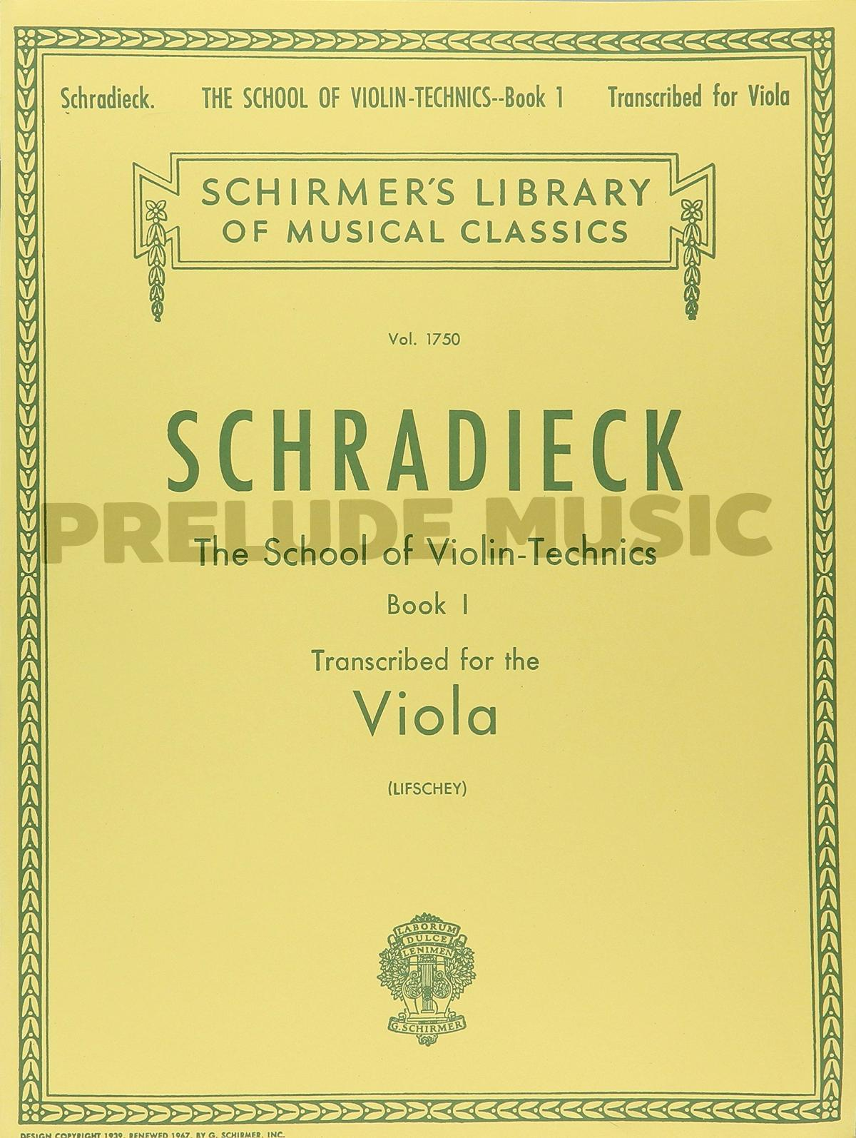School of Violin Technics, Op. 1 � Book 1  Viola