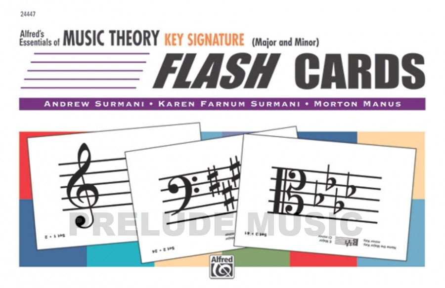 Alfred's Essentials of Music Theory: Flash Cards  Key Signature